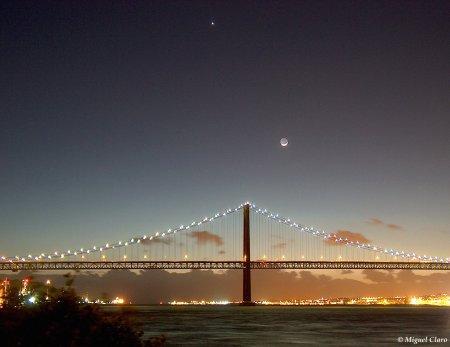 Лунный закат в Лиссабоне